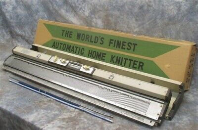 Automatic Home Knitter Studio Model SK-303 Silver Instamatic Made Japan Vintage