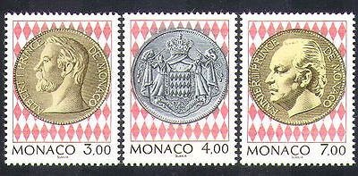 Monaco 1994 Coins/Portraits/Royalty/Coat-of Arms 3v set (n21297)