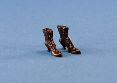 Dollhouse Miniature 1:12 Scale Brown Faux-Leather Chair 53151 Any Room handcraft