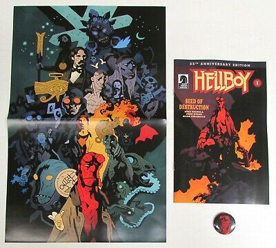HELLBOY DAY 2019 Bundle VF Set: Comic, Book Poster, Button, Mignola Free Ship