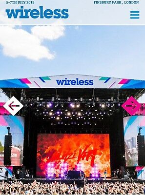 WIRELESS FESTIVAL FRIDAY Ticket. Finsbury Park July 2019