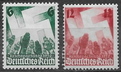 Germany Third Reich 1936 Mi# 632-633 MH Nuremberg Congress *