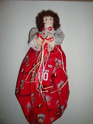 Ohio State Football Theme Plastic/Grocery Bag Holder/-Dolls-Handcrafted-