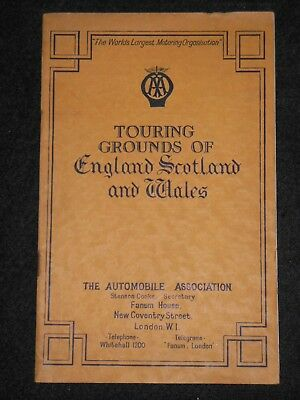 Touring Grounds of England, Scotland & Wales c1932 - Vintage Tour Guide, Travel