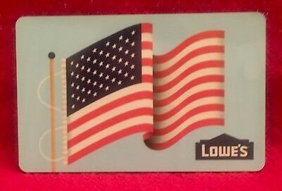 Lowe's Lowes American Flag Patriotic Old Glory 2016 Gift Card Collectible