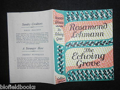 ORIGINAL VINTAGE DUSTJACKET (ONLY) for The Echoing Grove by Rosamond Lehmann