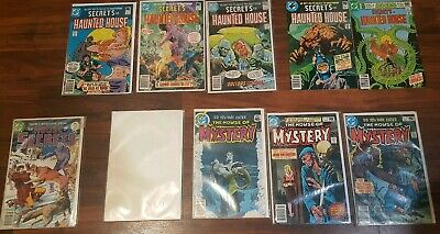 VINTAGE LOT OF 17 1970's DC COMICS BOOKS THE HOUSE OF SECRETS HAUNTED MYSTERY