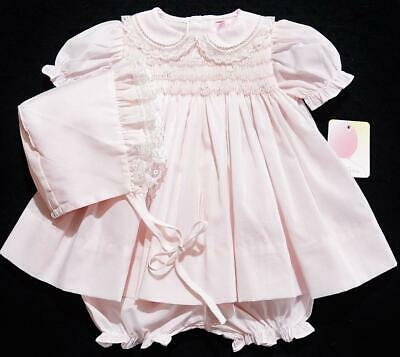 bc4dba614 PETIT AMI PREEMIE SMOCKED 3PC PINK TAKE ME HOME DRESS~NWT'S~reborn doll