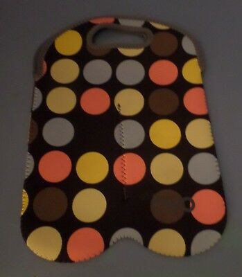 Nice Byo By Built Ny Two Bottle Neoprene Wine/Water Reusable Tote- Dot Pattern