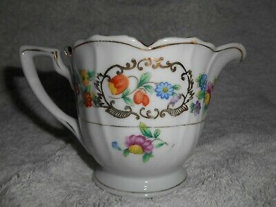 Vintage Gold Castle Dinnerware Creamer dish with handle Made in Japan