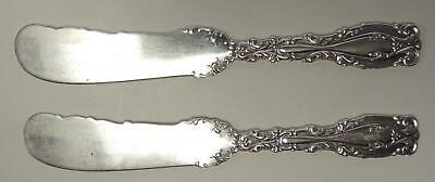 Two 1890s Whiting Sterling Silver Individual Butter Knives Josephine Pattern