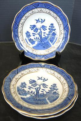 Three Royal Doulton Real Old Willow Blue Saucers * Majestic Collection