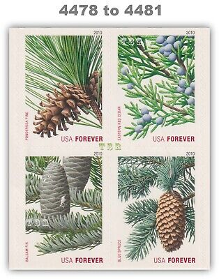 4478-81 4481a Evergreens Forever Block 8 Double-Sided Pane 2010 MNH - Buy Now