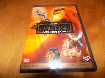 DISNEY'S THE LION KING 2 DISC SPECIAL PLATINUM EDITION Walt Disney DVD SET