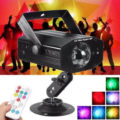 Remote Water Wave Effect LED Laser Projector Stage Light DJ KTV Disco Party