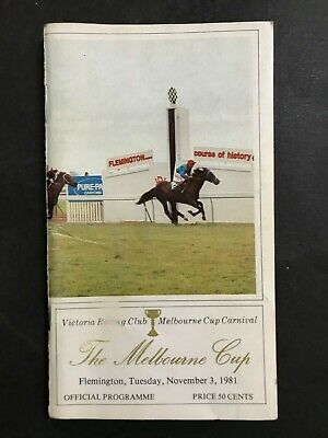 Race Book Melbourne Cup Vrc Meeting 1981- Just A Dash Wins