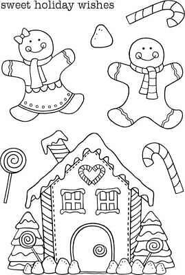 """Jane/'s Doodles/"""" Belated Birthday Clear Stamps 4/"""" x 6/"""""""