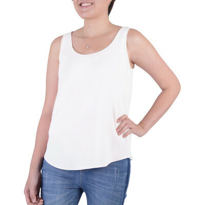 3ff4f275f5671 NEW Womens Time and Tru Arctic White Woven Stretch Tank Top Size 2XL 20