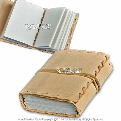 Medeival Handmade Diary Leather Renaissance Journal Notebook w/ Stiched Edges