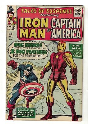 Marvel comics FN+ 6.5 Tales of suspense 59 1st appearance of Jarvis Iron man cap