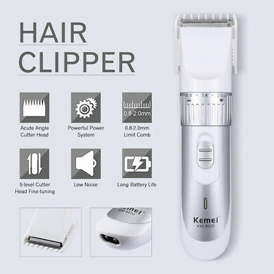 Men Electric Trimmer Shaver Razor Pet Hair Clipper Cordless Beard Rechargeable