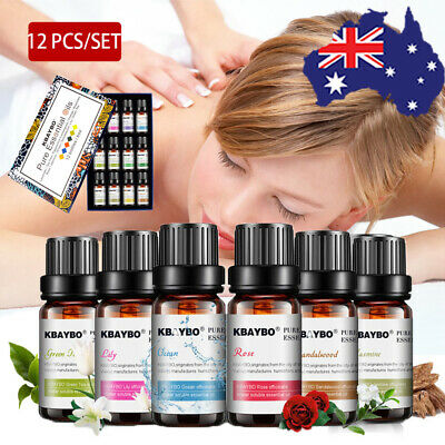 SET Of 6/12PCS FRAGRANCE ESSENTIAL OILS 100% Pure Natural Aromatherapy kit 10mL