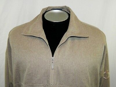 Tag L Large Sunderland of Scotland Beige Textured Lined Pullover Parka Jacket