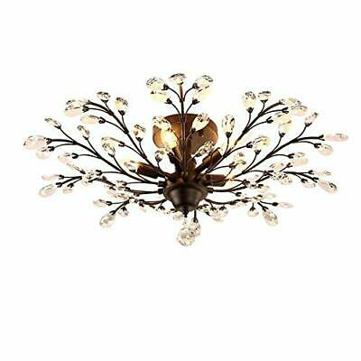 INJUICY Retro Cristal Bougie Branches d'arbr(Noir & Diamètre: 780 mm)