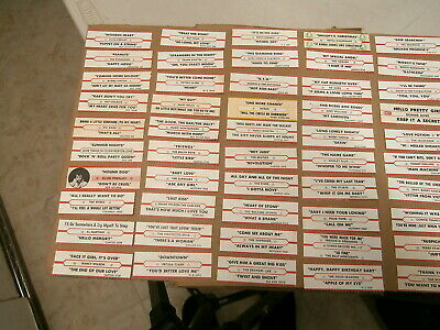 50 Original Jukebox Title Strips~Connie Francis~Ronnie Dove~Vogues~Etc.~#3