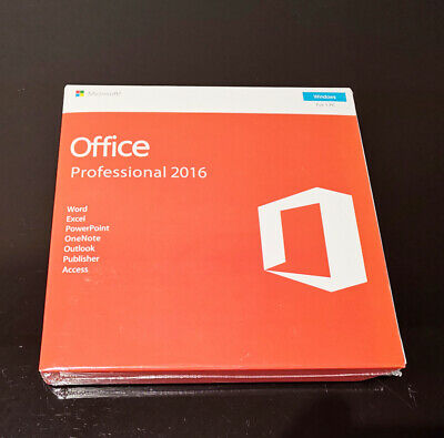 Microsoft Office Professional 2016 Product Key With DVD for 1 PC Sealed