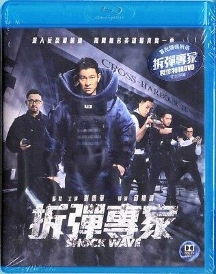 "Andy Lau Tak-Wah ""Shock Wave"" Jiang Wu HK 2017  Action Region A Blu-Ray"