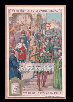 Holy Crusaders Meet Emperor of Byzantine Empire c1905 Trade Ad Card