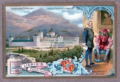 Escurial Escorial Castle Madrid Spain King Royalty c1905 Trade Ad Card