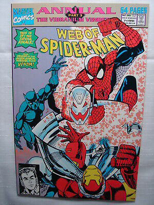 C 1733 Marvel Comics 1991 WEB OF SPIDERMAN Giant Annual #7 Part 3  VF Condition