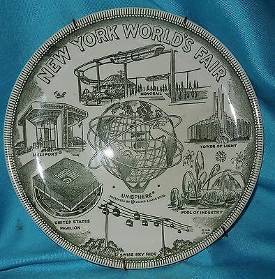 1964/65 New York World's Fair picture  Unisphere Heliport U.S. Pavilion Plate