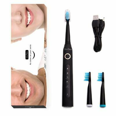 NEW Burst Sonic Electric Toothbrush Adults 5 Brushing Modes Timer USB Waterproof