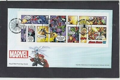 GB 2019 Marvel MS Royal Mail FDC First Day Cover Spider Lane Stroud special pmk