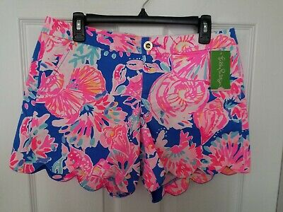 8b34839af53170 Lilly Pulitzer Buttercup Stretch Shorts Bennet Blue Bay Dreamin Size 8 NWT  💟