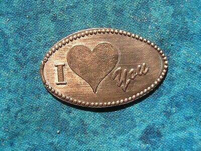 I LOVE YOU HEART Elongated Penny Pressed Smashed 2
