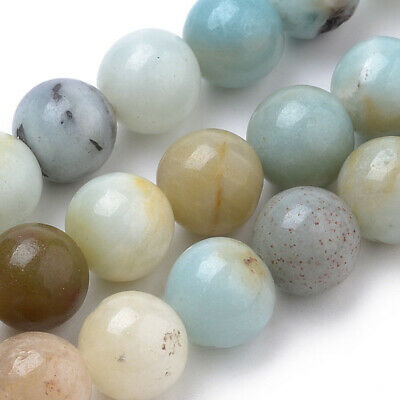25 perles 8 MM en amazonite gemme naturel