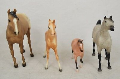 Lot of 4 Breyer Horses Arabian Foal Quarter Horse Yearling Paddock Pal