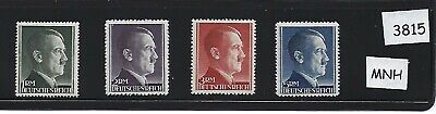 Complete MNH Nazi Stamp set / Adolph Hitler large denominations MNH  Third Reich