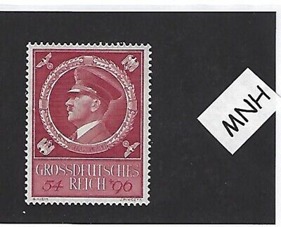 MNH Adolph Hitler stamp / 1944 Birthday Third Reich issue / Nazi Germany / MNH