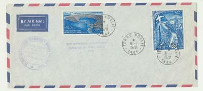 FRENCH SOUTHERN & ANTARCTIC TERR 1970 ANTARCTIC EXPEDITION COVER Sc#C13/17 RARE