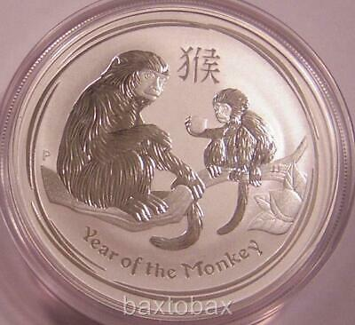 2016 AUSTRALIAN LUNAR YEAR OF THE MONKEY 1 oz. SILVER COIN *BU*