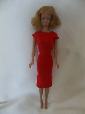 Vintage Original 1958 / 1962 Freckled Red Blonde Midge Barbie Doll Mattel