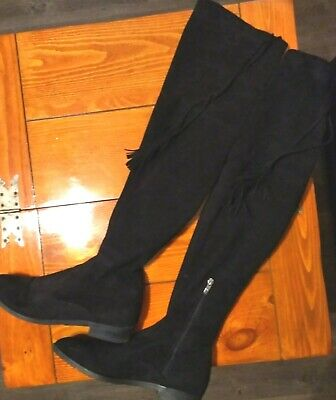 5cad5ed436d Marc Fisher Olympia Women s Over The Knee Boot Black Size 9M 308 0817  Pre-owned