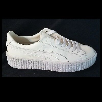 save off d6150 a9d4e NEW W/O BOX PUMA by RHIANNA Basket Creepers FENTY White Pat GLO Sneakers  41/10