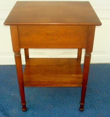Stickley Cherry One Drawer Lamp Table / Night Stand / Side Table / Hall Table