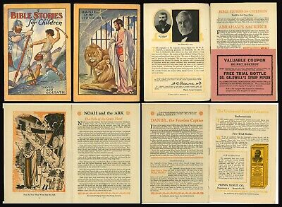 RARE ANTIQUE PEPSIN SYRUP BIBLE STORIES FOR CHILDREN BOOKLET c.1922